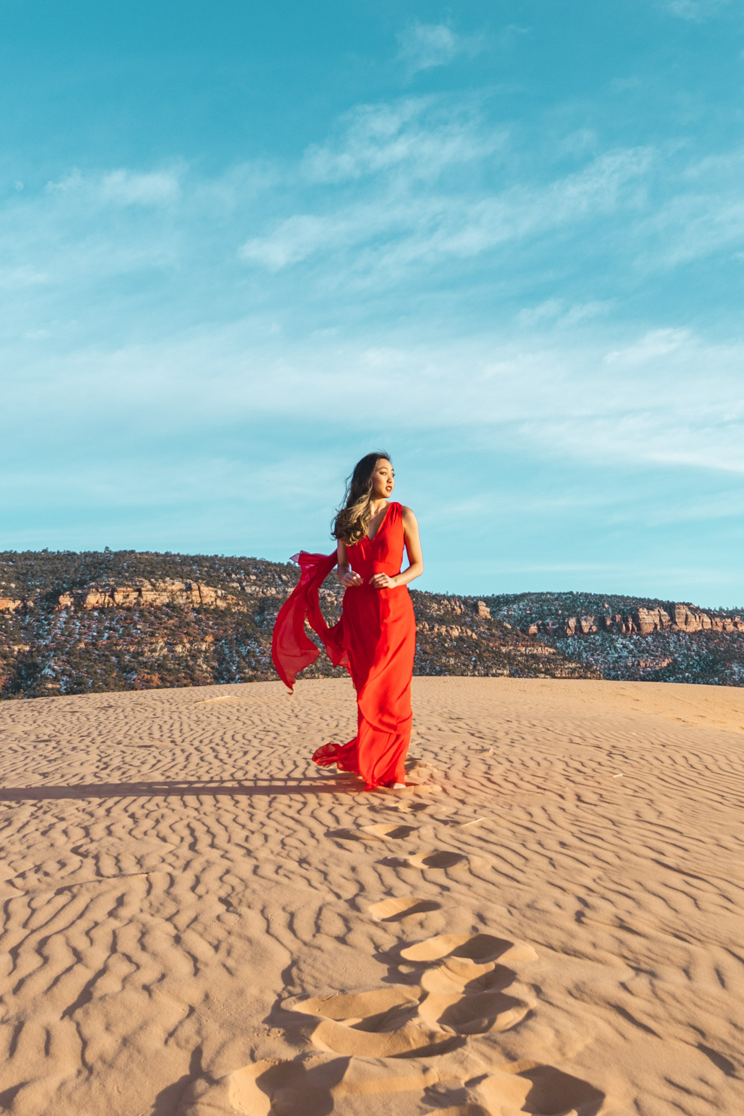 Fashion Shoot at Coral Pink Sand Dunes State Park