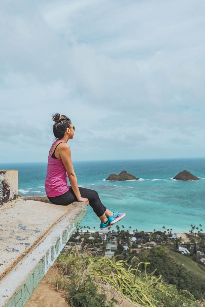 Sitting on the edge of one of the pillboxes