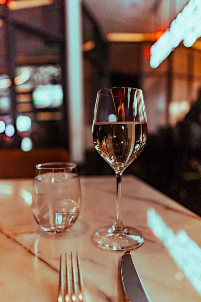 Wine at Spago Restaurant