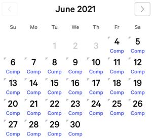 NY NY myVEGAS Rewards Calendar (June 2021)