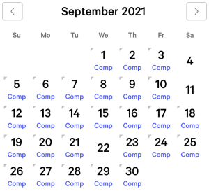 Mandalay Bay myVEGAS Rewards Calendar (September 2021)