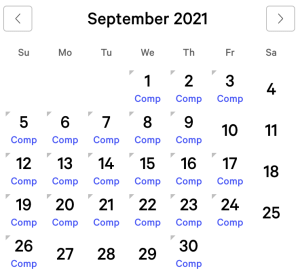Mirage myVEGAS Rewards Calendar (September 2021)