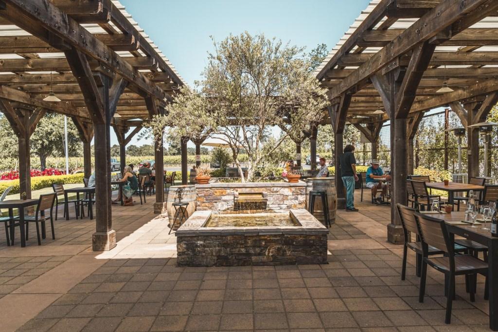 Balletto Vineyards' Outdoor Tasting Area