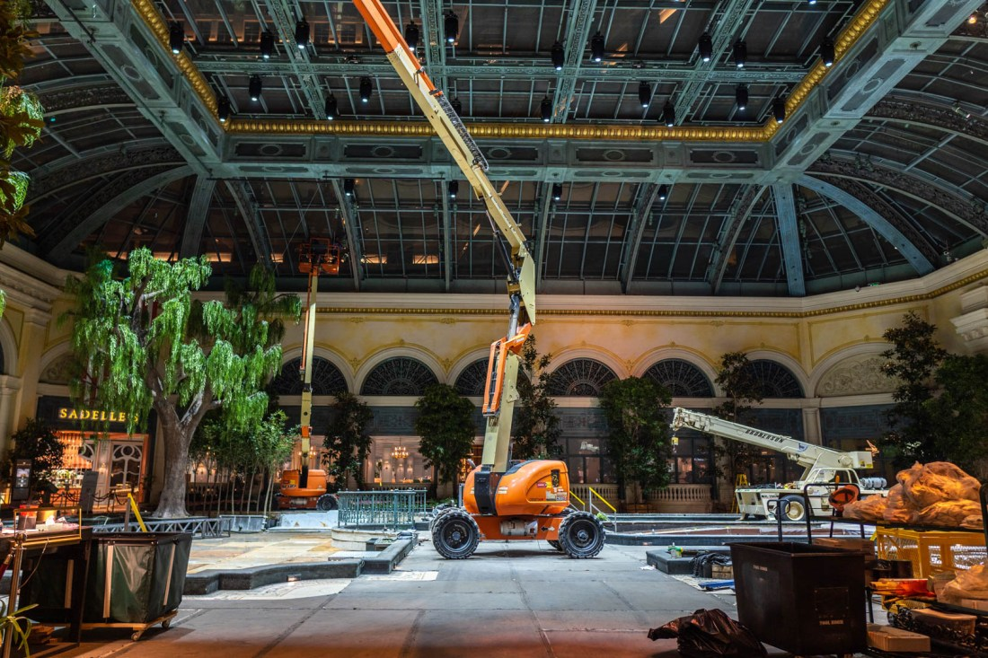Bellagio Conservatory Being Changed Out