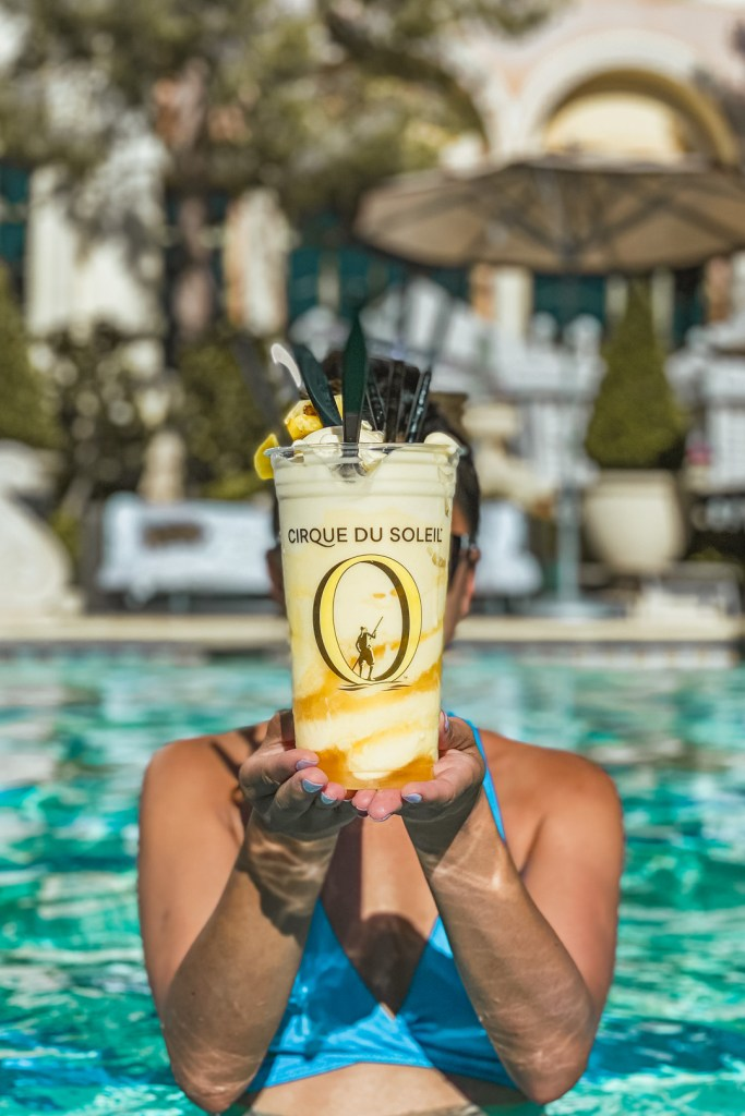Dole Whip Cocktail at the Bellagio Pool
