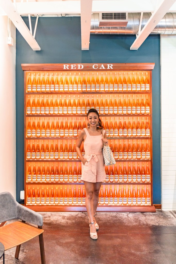 Red Car Wine's Rosé Wall