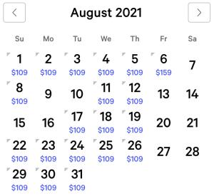 Aria Exclusive Rates August 2021