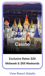 Excalibur Exclusive Rates July 2021