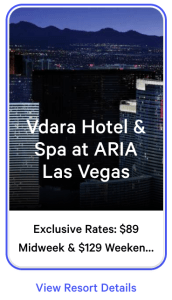 Vdara Exclusive Rates