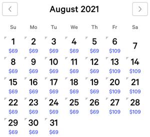 Mirage Exclusive Rates August 2021