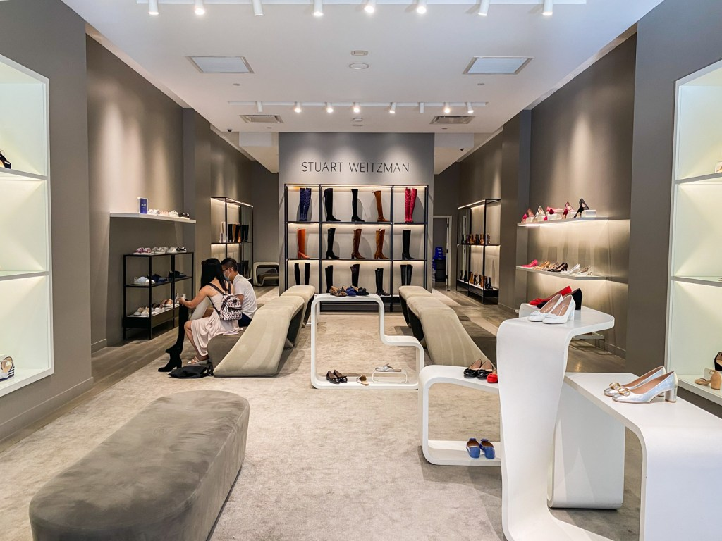 Inside the Stuart Weitzman Outlet in Cabazon, CA