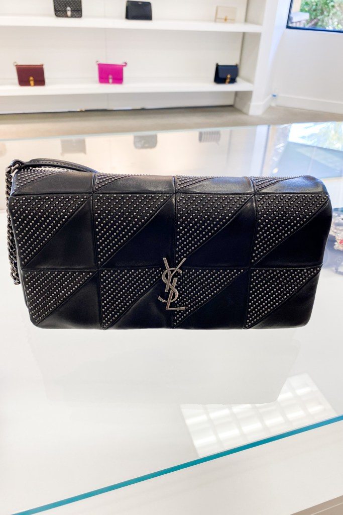 Saint Laurent Jamie Baguette Micro Studded Leather Bag