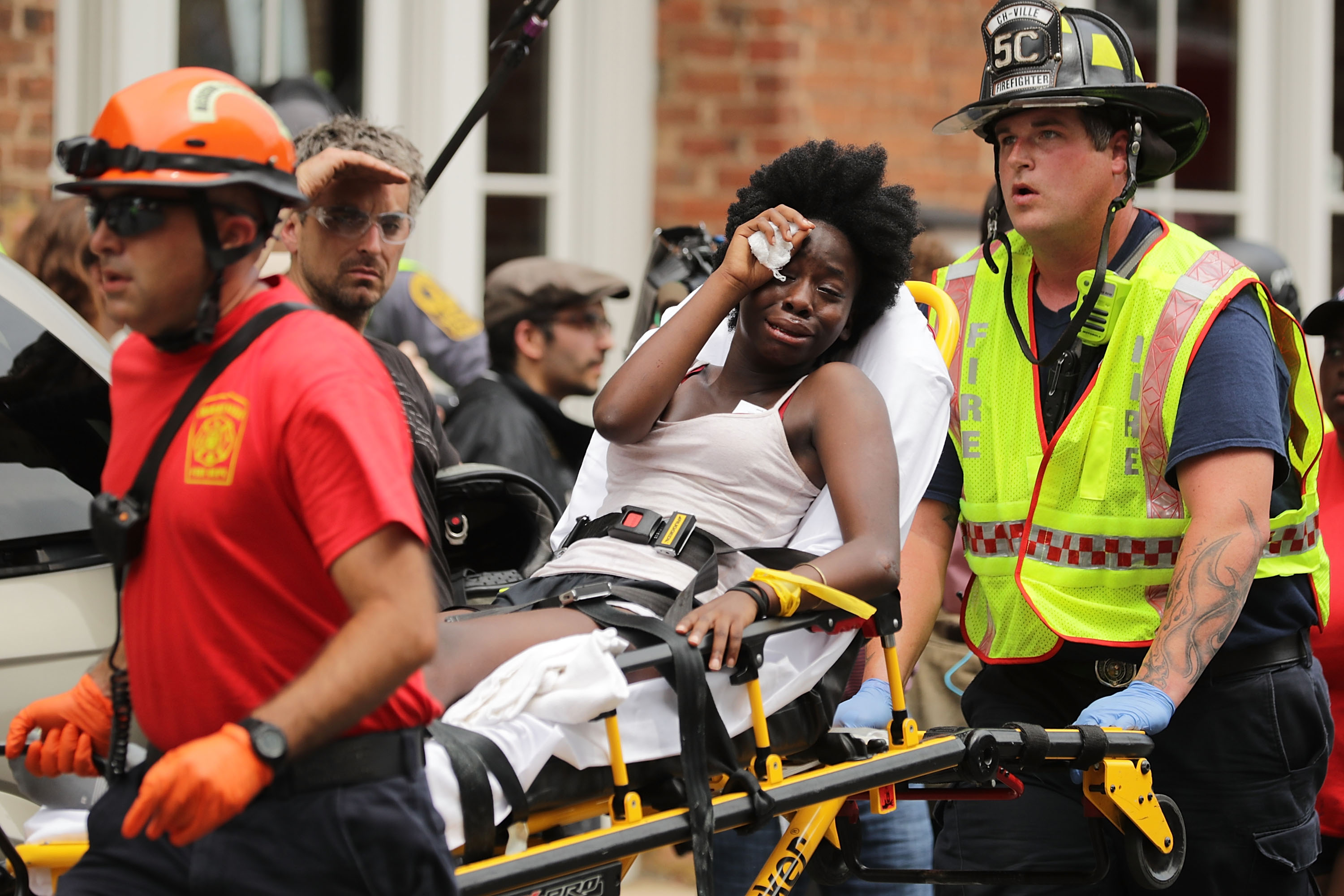 Aftermath Of Car Crashing Into Crowd Charlottesville
