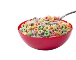 """Even products like fruity, sugary cereals can have """"made with whole grains"""" on the front, so be sure to check the ingredients!"""