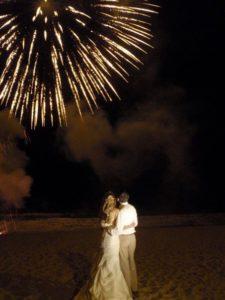 fireworks at wedding