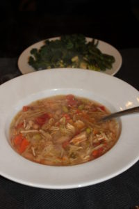 """chicken """"vegetable"""" soup"""