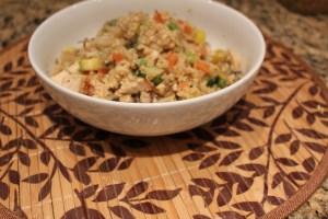 healthy cauliflower chicken fried rice