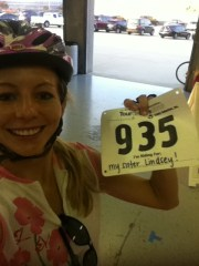 pre ride with number