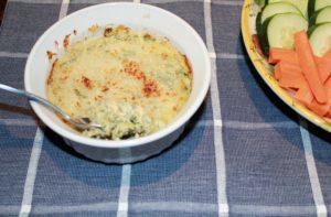 browned kale artichoke dip