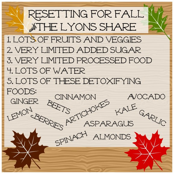 Resetting for Fall The Lyons Share