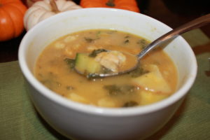 fall harvest soup close up