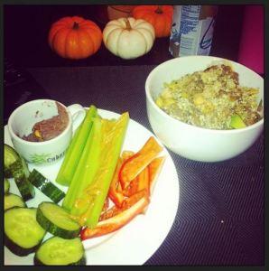 kale artichoke lentils chickeas meal