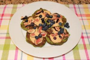 spinach cauliflower pancakes