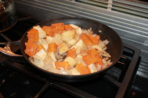 veggies sauteeing