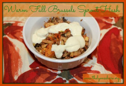 Warm Fall Brussels Sprout Apple Hash
