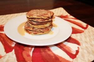 cinnamon roll pumpkin protein pancakes