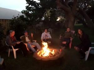 fire in backyard