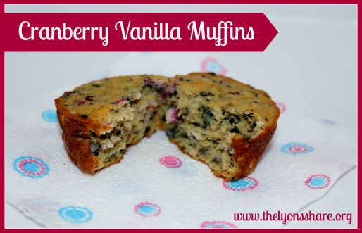 cranberry vanilla muffins The Lyons Share 2