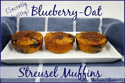 Secretly Healthy Blueberry Oat Streusel Muffins2