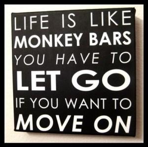 life is like monkey bars