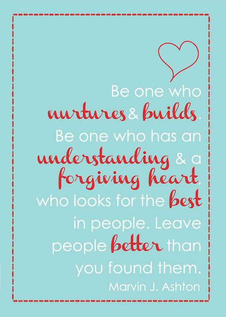 be one who nurtures and builds - blog 2.24.14