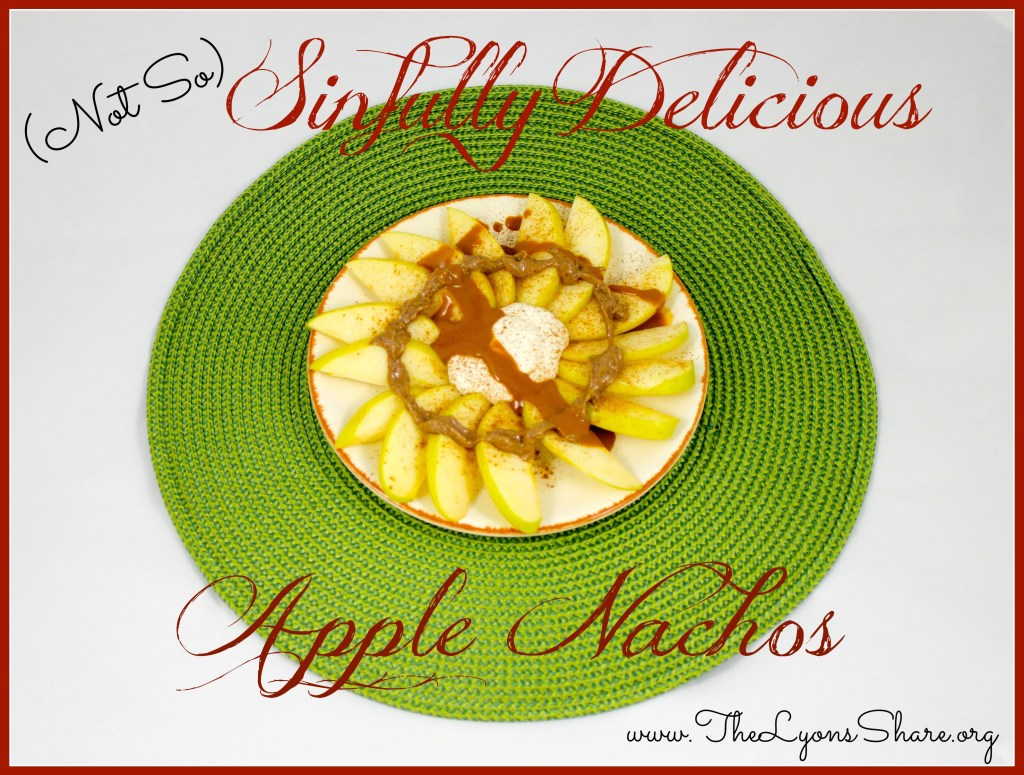 Not So Sinfully Delicious Apple Nachos from The Lyons Share