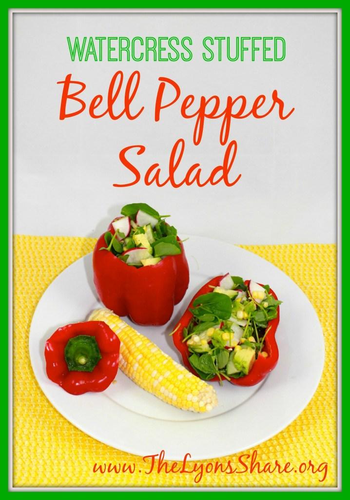 Watercress Stuffed Bell Pepper Salad The Lyons Share