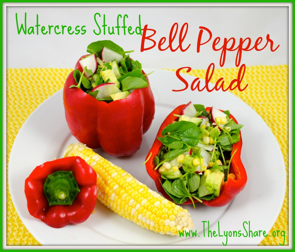 Watercress Stuffed Bell Pepper Salad by The Lyons' Share