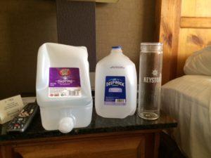 water at hotel