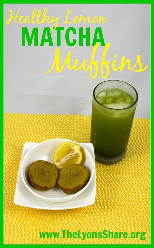Lemon Matcha Muffins The Lyons Share 1