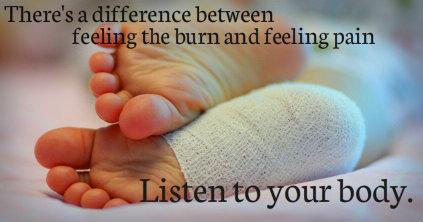 pain vs burn