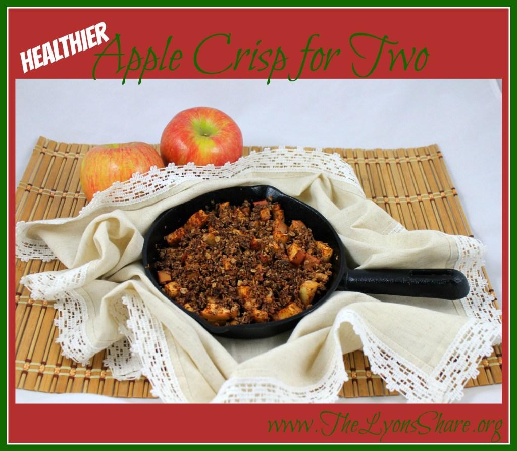 Healthier Apple Crisp for Two