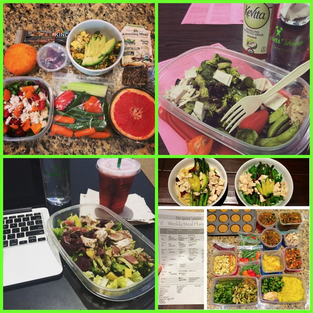 healthy lunch food prep
