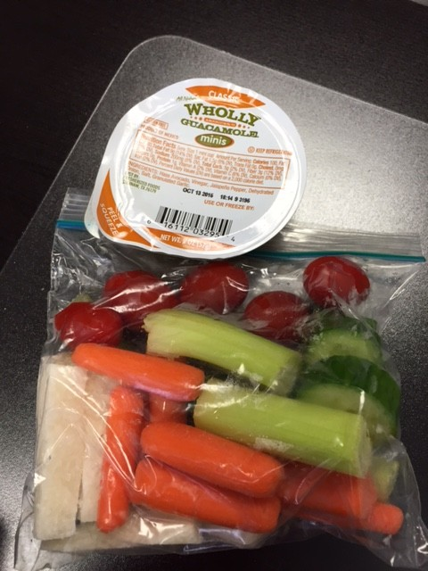 veggie pack and wholly guacamole