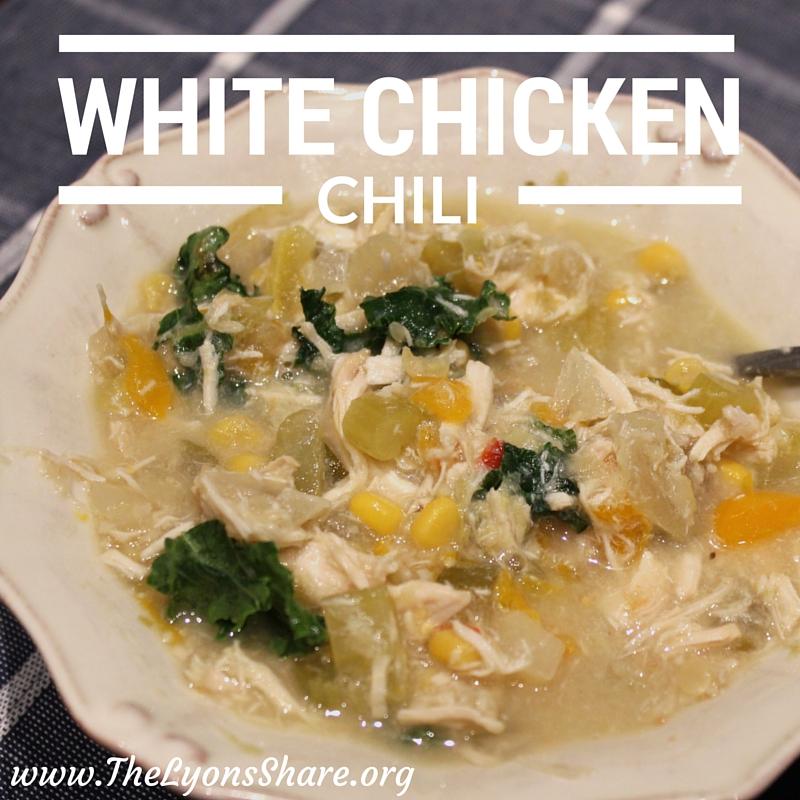 White chicken chili the lyons share