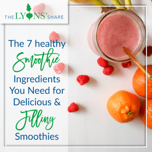healthy smoothie ingredients
