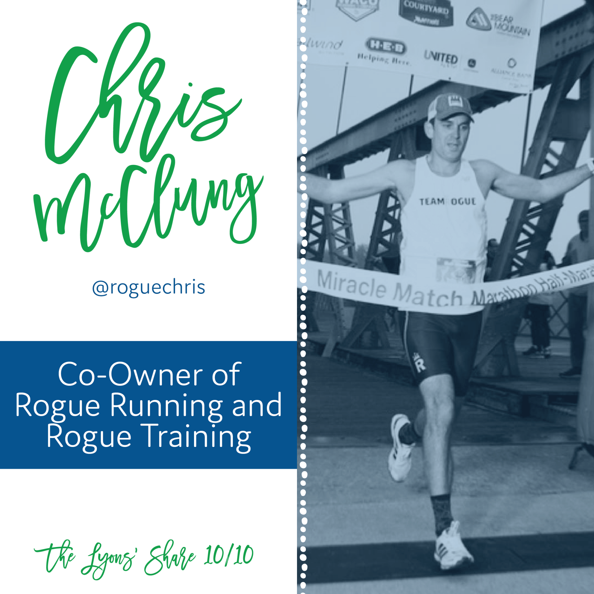 This Week's 10/10: Chris McClung, Co-Owner of Rogue Running and Rogue Training!
