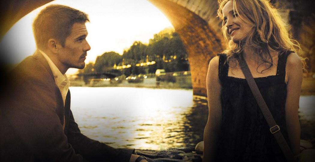 Ethan Hawke e Julie Delpy in prima del tramonto