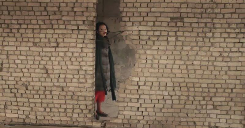 donna nel muro