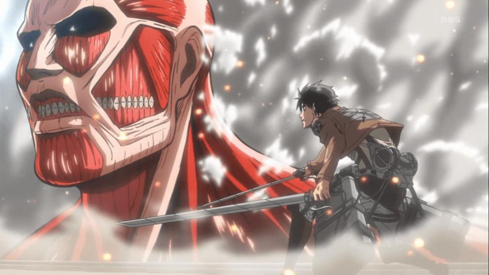 Eren e Titano colossale